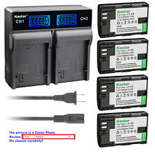 Kastar Battery LCD Rapid Dual Charger for Canon LP-E6 LC-E6 Canon EOS 7D Mark II