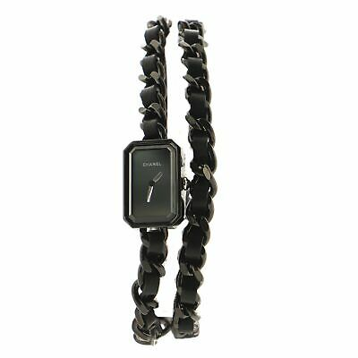 Chanel So Black Premiere Rock Triple Row Quartz Watch Stainless Steel and