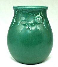 "ROOKWOOD 4 1/2"" CRAB APPLES GREEN #2122 VASE Mold DESIGN by SARA SAX CIRCA 1923"