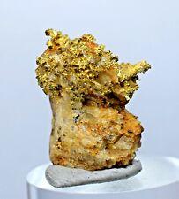 2.2cms PREMIUM NATIVE GOLD OF THE INCAS CRYSTALS QUARTZ  MINERAL SPECIMEN L304