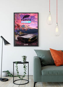 Forza Horizon 5 Video Game Print Glossy Canvas Wallpaper Poster Home Size A4