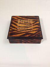 "Beautiful ""Guatemala"" Wooden Jewelry Trinket Box Tiger Print Animal Print"