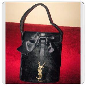 Yves Saint Laurent Parfums Black velvet Hand Bag Clutch