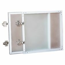 """Lorell Wall-mount Hutch Frosted Glass Door - 30"""" Width - Frosted Glass - Frost"""