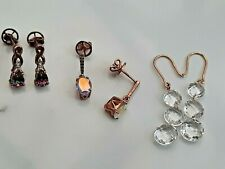 9CT GOLD EARRINGS THREE PAIRS OVER 5g