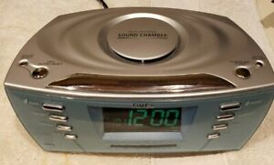 Timex Alarm Clock Radio T439S Multi Directional Sound Chambers MP3 Aux Tested