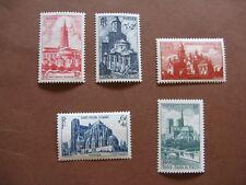 FRANCE neufs n° 772 à 776  2ème série des cathédrales