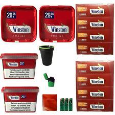 4 x Winston Volumentabak Mega Boxes 170g, Winston Extra Hülsen + Zubehör