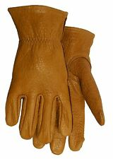 American Made Buffalo Leather Work Gloves  650 Size: Large Unlined