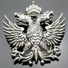 Men Western Silver Russian Imperial Double Eagle Crown Cowboy Belt Buckle Gift W