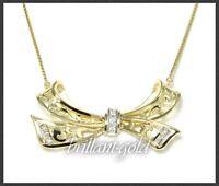 Diamant & 585 Gold Collier mit 0,35ct, Antik um 1930, Goldschmiede Handarbeit