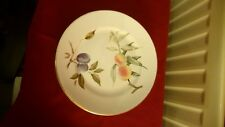 """2 Evesham Vale 1986 Royal Worcester 26cm 10"""" Dinner Plates Fine Porcelain"""