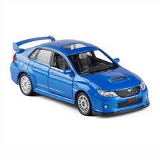 Subaru WRX STI 1:36 Scale Car Model Diecast Gift Toy Vehicle Blue Pull Back Kids