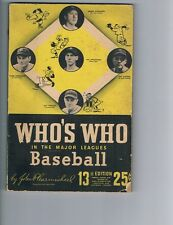 1945 Who's Who in Major League Baseball by John Carmichael - AS IS - very worn