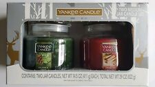 Yankee Candle Two Medium Jar Set Balsam Cedar Sparkling Cinnamon 14.5 oz