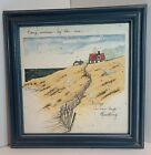 """Vintage 1998 D. Morgan Framed Matted Print Frame 11"""" Square Every Sunrise"""