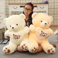 Big I Love You Teddy Bear Large Stuffed Plush Toy Holding LOVE Heart Soft Toys