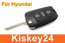 3Tasten Ricambio Sfilare il Corpo Chiave per Hyundai i10 i20 i30 ix35 ix20