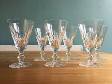 6 Waterford Ireland Cut Lead Crystal EILEEN White Wine Glasses Set Stems 5""