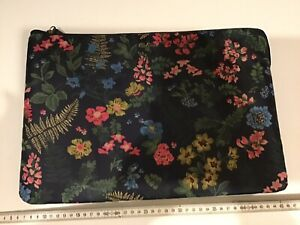 CATH KIDSTON LARGE NAVY BLUE FLORAL CLUTCH MAKEUP toiletry Wash BAG LAPTOP Case