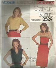 Vogue Designer Sewing Pattern 2529, Calvin Klein Tops and Skirt, Size 12