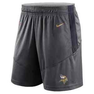 New 2021 NFL Minnesota Vikings Nike Sideline Performance Knit Dri-FIT Shorts NWT