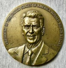 "Portugal - Pres. Reagan's Visit to Portugal in 1985- 3.5"" Bronze Medal-Very Rare"