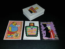 Simpsons Mania complete 72 trading card base set + 2 Promo Cards + 4 Wrappers