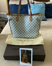 Authentic Louis Vuitton Neverfull MM Damier Azur (beige)