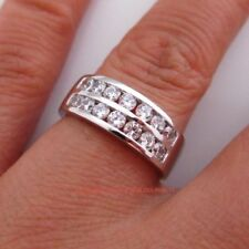 Cubic Zirconia White Band Fine Rings