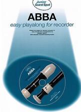 Blockflöte Noten : ABBA easy playalong  mit CD  leicht - leichte Mittelstufe