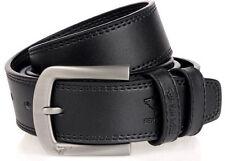 Septwolves Men Belt Real Genuine Leather Pin Lock Buckle Cow Skin Black 2058400