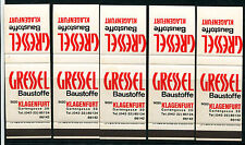 5 Streichholzbriefskelette Gressel Baustoffe, Klagenfurt    5/2/14