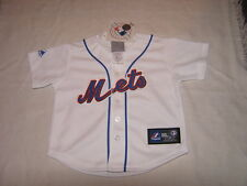 MLB NY New York Mets Home Kids Baseball Majestic Jersey Sz 24M NWT