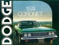 1974 Dodge Coronet Original Sales Brochure