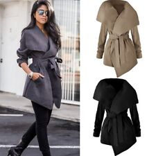 Inverno donne collare Trench Caldo Donna Parka Cappotto Lunga Giacca Outwears