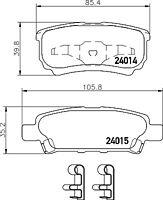Mintex Rear Brake Pad Set MDB2612  - BRAND NEW - GENUINE - 5 YEAR WARRANTY