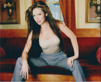 Thalia 1990's sexy publicity pose in low cut top 8x10 photo