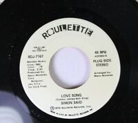 Soul Promo 45 Simon Said - Love Song / Love Song On Roulette