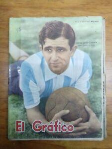 EL GRAFICO # 1932 ARGENTINA 1956 MAGAZINE ORESTES OMAR CORBATTA ON COVER RACING