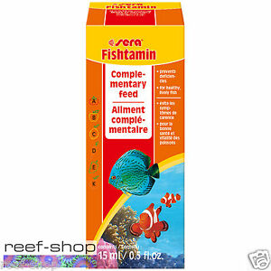 Sera Fishtamin 15ml Marine & Freshwater Liquid Vitamins for Aquarium Fish Health