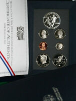 1994 US Mint PRESTIGE Proof Set 7 Coin w/ World Cup Soccer Silver Dollar & Half