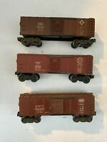 Lionel X6454 Boxcar Lot of 3