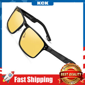 Night Vision Glasses-Anti-Glare Glasses Al-Mg Metal Frame Safe Driving Glasses
