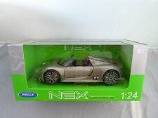 Welly Porsche 918 Spyder grau met in 1:24 Neu & OVP