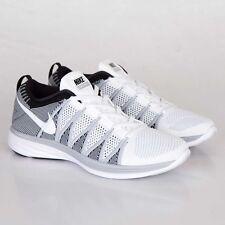 Nike Flyknit Lunar2 Men's Sneakers White/White/Wolf Grey/Black 620465-100