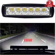Top 18W Spot LED Light Work Bar Lamp Driving Fog Offroad SUV 4WD Car Boat Truck