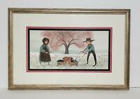"1974 P Buckley Moss ""Parents to Be"" Lithograph Signed/Numbered 491/1000 Framed"