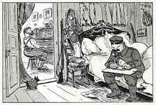 Heinrich ZILLE  Am KLAVIER Originaldruckgraphik 1915 Lustige Blätter