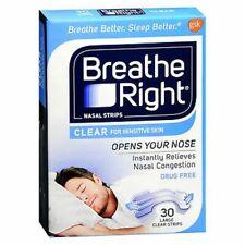 Breathe Right Nasal Strips Clear for Sensitive Skin Lar